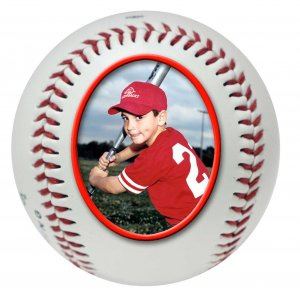 Personalized Photo Baseball- Gift Idea, Award or Trophy