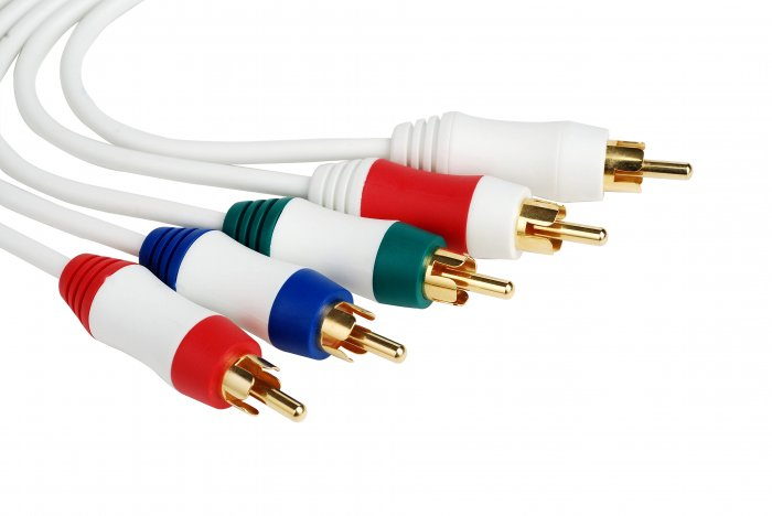 24K Gold Wii Component Cable HD 480p