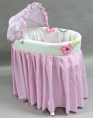 "Rizzo ""Katie Chenille "" Three Tier Jumbo Bassinet"