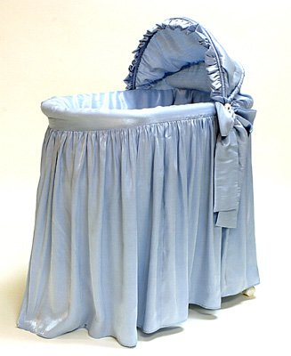"Rizzo ""Shimmer Blue"" Three Tier Jumbo Bassinet"