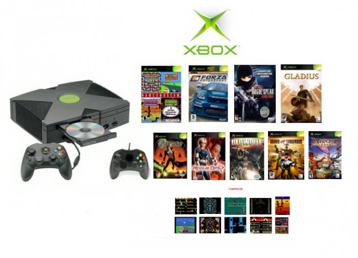 "Xbox ""Super Bundle"" - 18 Classic Games + 2 Controllers"