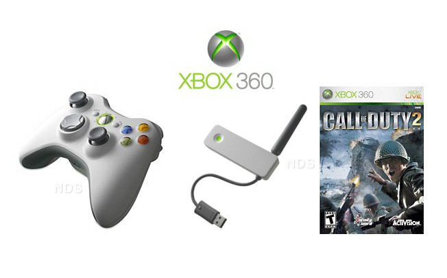 Xbox 360 Perfect Gift Idea - Wireless Controller - Wireless Network Adapter - Call of Duty Game