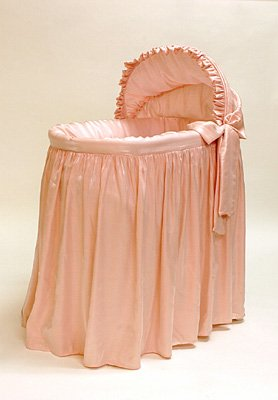 "Rizzo ""Shimmer Pink"" Three Tier Jumbo Bassinet"