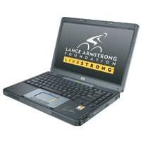 HP L2005 CU Special Edition Livestrong DVD R W Wireless Notebook with AMD Turio 64 Mobile Tec