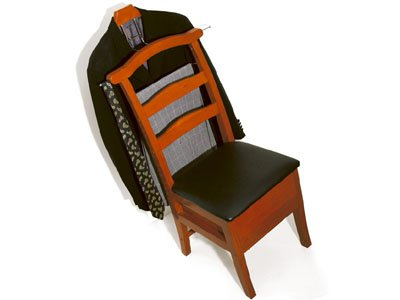 Executive Solid Wood Valet Chair with Storage Seat