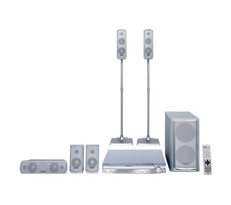Panasonic SC HT730  800 W DVD Home Theater System w 5-D Changer and Wireless Surr Speakers