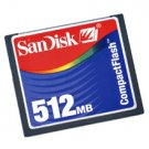 Sandisk 512MB Compact Flash Card