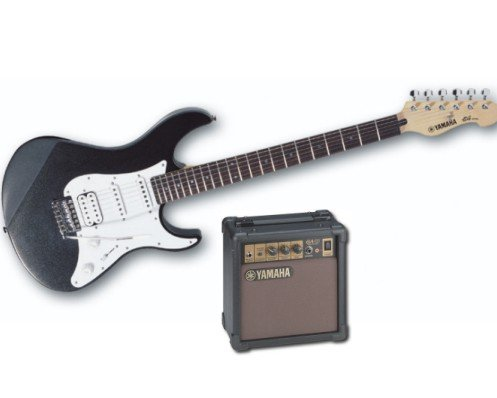 Yamaha EGP112-C2 (Limited Edition) Electric Guitar with Amplifier Combo (Black on Black)