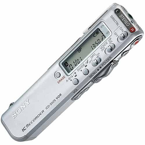 Sony ICD-SX25 Digital Voice Recorder With Built-in 32MB Memory and Stereo Microphone