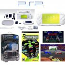 "Sony PSP ""Limited Edition"" Ceramic White ""Holiday Value Pack""  21 Games  PSP Car Kit"