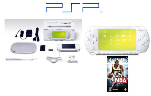 "Sony PSP Limited Edition ""Ceramic White"" Value Pack  NBA Game"