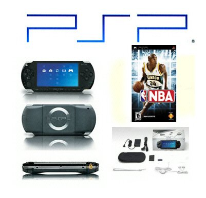 "Sony PSP ""NBA Value Pack"" - One Game, UMD Sampler Pack + Extra Accessories"