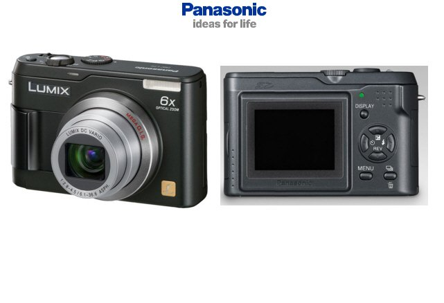 Panasonic DMC-LZ2 Ultra Slim 5.0 MegaPixels Digital Camera with 6X Optical Zoom