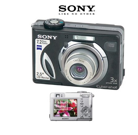 Sony Cybershot DSC-W7B - 7.0 Megapixel Digital Camera with 3x Optical Zoom