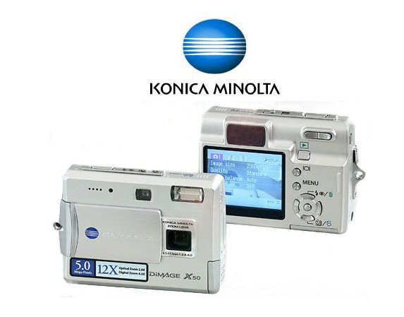Konica-Minolta Dimage X50 Pocket Size - 5.4 Mp 2.8x Optical4.3x Digi Zoom Digi Camera