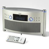 TEAC SRL50 Tabletop CD Clock Radio 3 inch built in sub  Drawer loading CD design 10 Station Mem