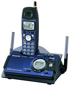 Panasonic KX-TG5438S 5.8 GHz FHSS GigaRange Shock Splash Resistant Phone System w Answering System