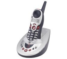 GE 5.8 GHz Cordless Phone with Digital Messaging & Call Waiting Caller ID