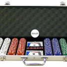 400PC 13.5GRAM PRO CLAY DOUBLE SUIT POKER CHIP SET WITH ALUMINUM CASE