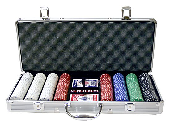 400PC 11.5 GRAM SUITED POKER CHIP SET WITH ALUMINUM CASE