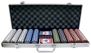 500PC 9GRAM HOT ROD CLAY POKER CHIP SET WITH ALUMINUM CASE