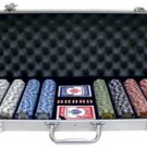 500PC 9GRAM DOGGIE CLAY POKER CHIP SET WITH ALUMINUM CASE