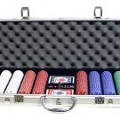 500PC 11.5 GRAM SUITED POKER CHIP SET WITH ALUMINUM CASE