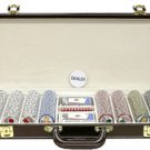 400PC 9GRAM PRO LAS VEGAS CLAY POKER CHIP SET WITH DELUXE GENIUNE LEATHER CASE