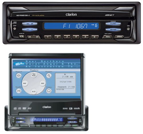 """Clarion ProAudio VRX755VD DVDMP3 receiver with 7"""" LCD monitor"""