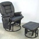 Giovanni Rizzo - 360 degrees Swivel Glider Rocker Chair with Ottoman