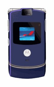 Limited Edition Blue V3 Razr Motorola Cellular Phone (Unlocked)