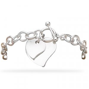 Double Polished Heart Link