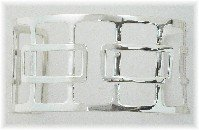 Sterling Silver High Polished Intersecting Boxed Cuff Bracelet