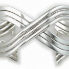 "Sterling Silver Large  High Polished  ""X""  Strand Cuff"
