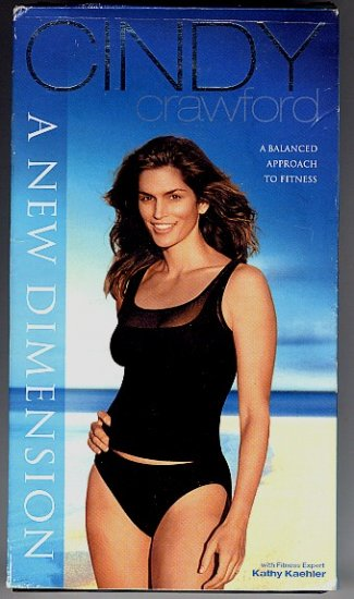 Cindy Crawford Video A New Dimension 70 min VHS for New Mothers