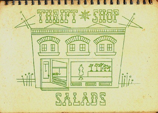 Thrift Shop Salads Cookbook Vintage 1968 Local Fundraising Book