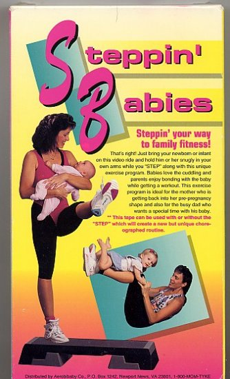 Steppin Babies Family Fitness Step Aerobics VHS Fitness Video
