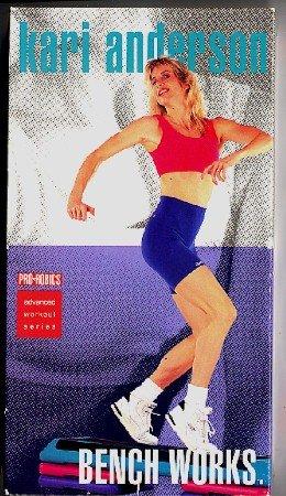 Bench Works Kari Anderson Step Aerobics VHS Exercise Video