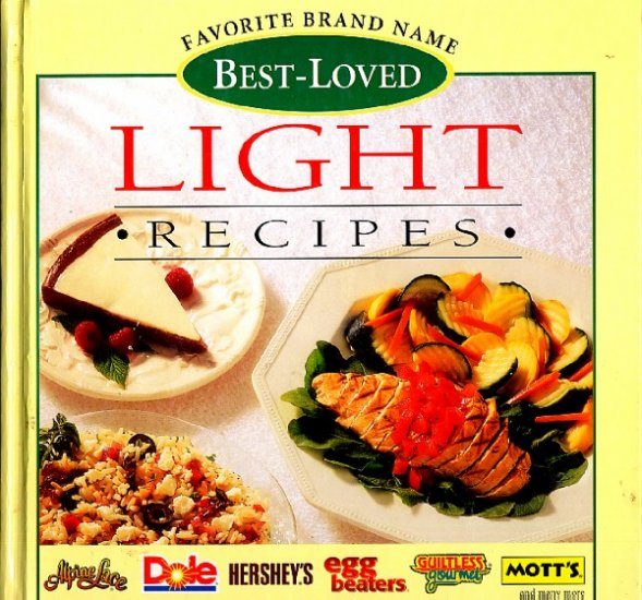 Favorite Brand Name Light Recipes Cookbook 1996 hc