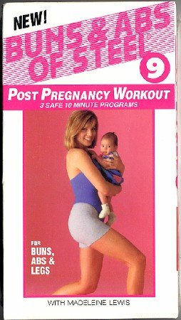 Buns & Abs of Steel 9 Post Pregnancy Workout 3 Safe 10 Minute Programs VHS NEW in shrink wrap