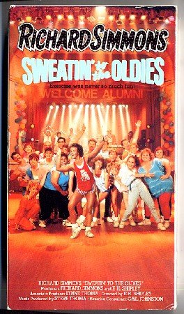 Sweatin to the Oldies 1 VHS Richard Simmons Original Exercise Video Beginners Tape