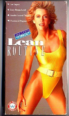 Jane Fonda Lean Routine VHS Aerobic Exercise Workout Video Tape