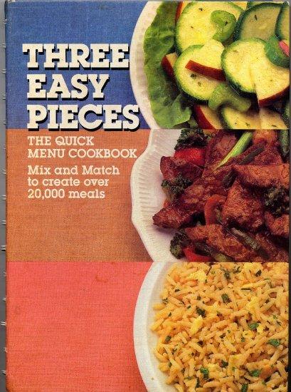 Three Easy Pieces Quick Menu Cookbook Mix n Match Vintage General Foods Advertising Spiral HC