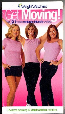 Weight Watchers Get Moving Moderate Intensity Workout Intermediate Exercise Video VHS - New!