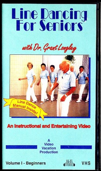 Line Dancing for Seniors Vol 1 Beginners Dr Grant Longley Dance Instruction Exercise Video VHS