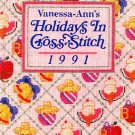 Holidays in Cross Stitch Vanessa Ann 1991 Cross-Stitch Pattern Book OOP