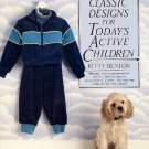 Classic Designs for Todays Active Children Kitty Benton Kids Clothes Sewing Pattern Book