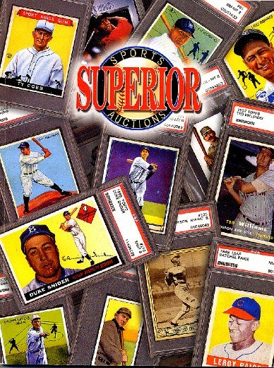 Superior Sports Auctions Baseball Cards and Collectibles Memorabilia Auction Book 2003