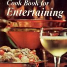 Sunset Cook Book for Entertaining hardcover vintage 60s party cookbook