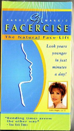 Facercise Carole Maggio Natural Face-Lift Exercise Video VHS
